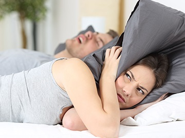 Man snoring loud